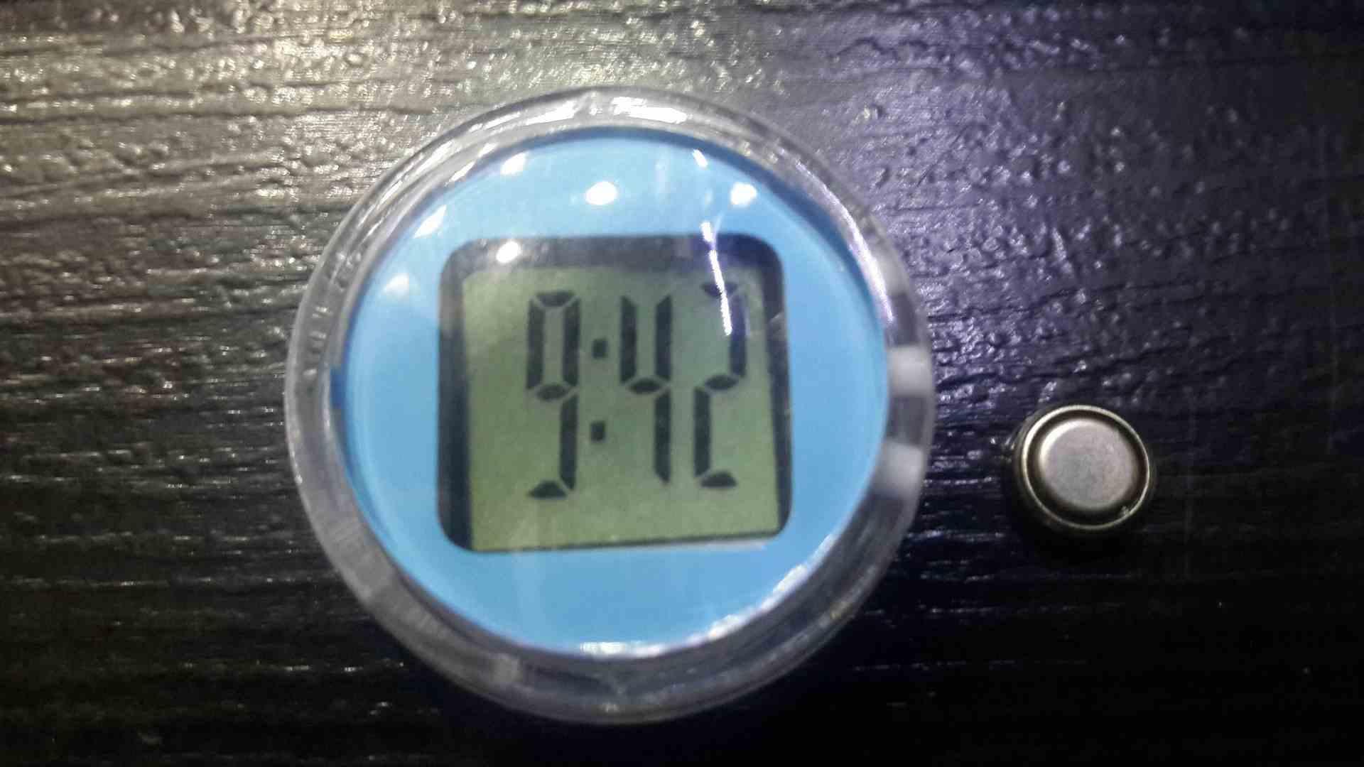 Dijital Su geçirmez Motosiklet saati incelemesi