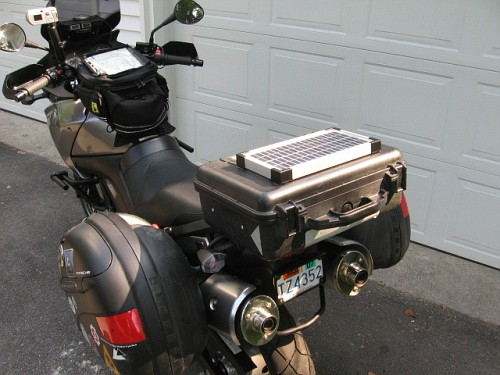 Motosiklete güneş Paneli Takmak V-strom