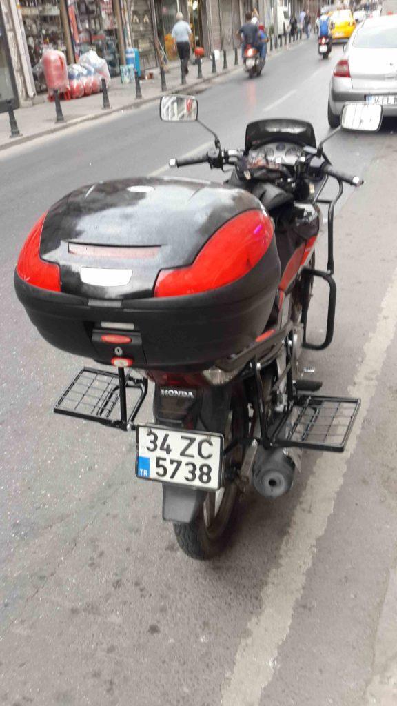 Honda cbf 150 Yan Çanta demiri uygulaması