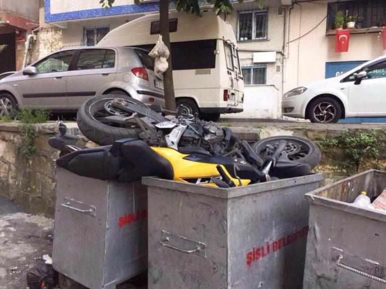 Çöpe Atılan Yamaha mt07