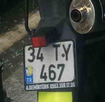 El yapımı isimli motosiklet plakalığı