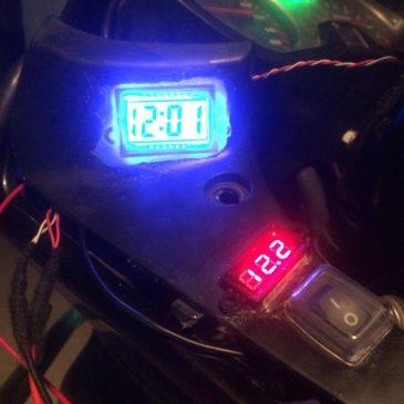Honda Cbf 150'ye Dijital Saat,Voltmetre ,Usb çıkışı Uygulaması