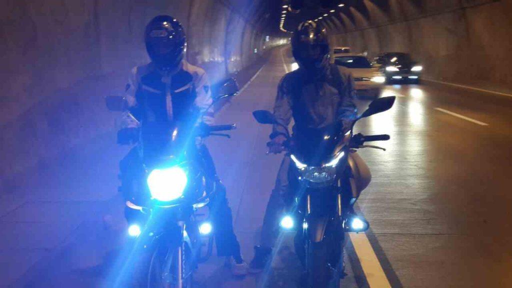 Honda cbf 150 Xenon ve Sis farı Aydınlatması