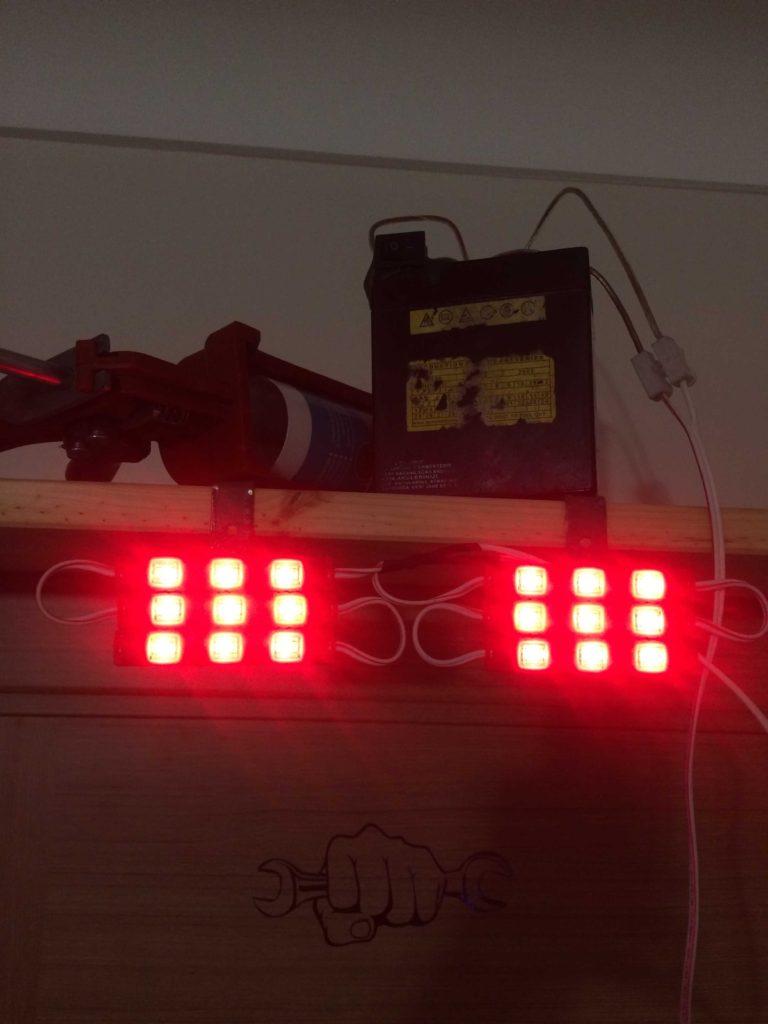 Honda cbf 150 ye ekstra arka aydınlatma sistemi uygulaması