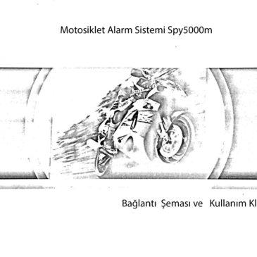 Spy5000M Motosiklet Alarmı Türkçe ve İngilizce Kullanım-Bağlantı Klavuzu