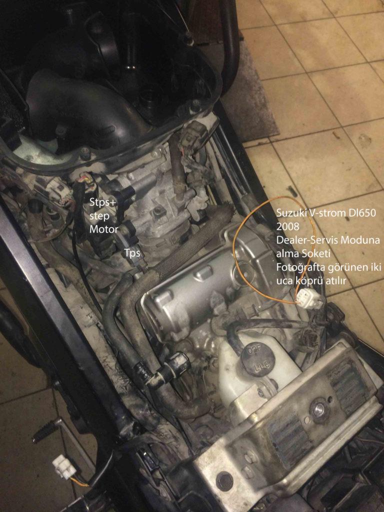 Suzuki v-strom dl650-dl1000 Rölanti ve gaz yememe sorunları Tps Sensörü