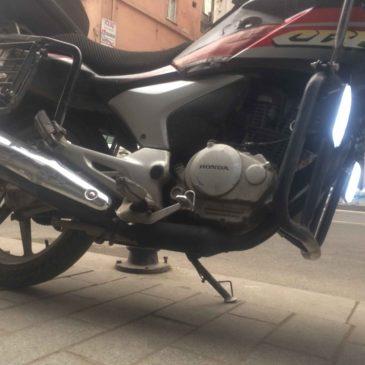 Honda Cbf 150 Motosiklete 36watt Güçlü Sis farı Uygulaması