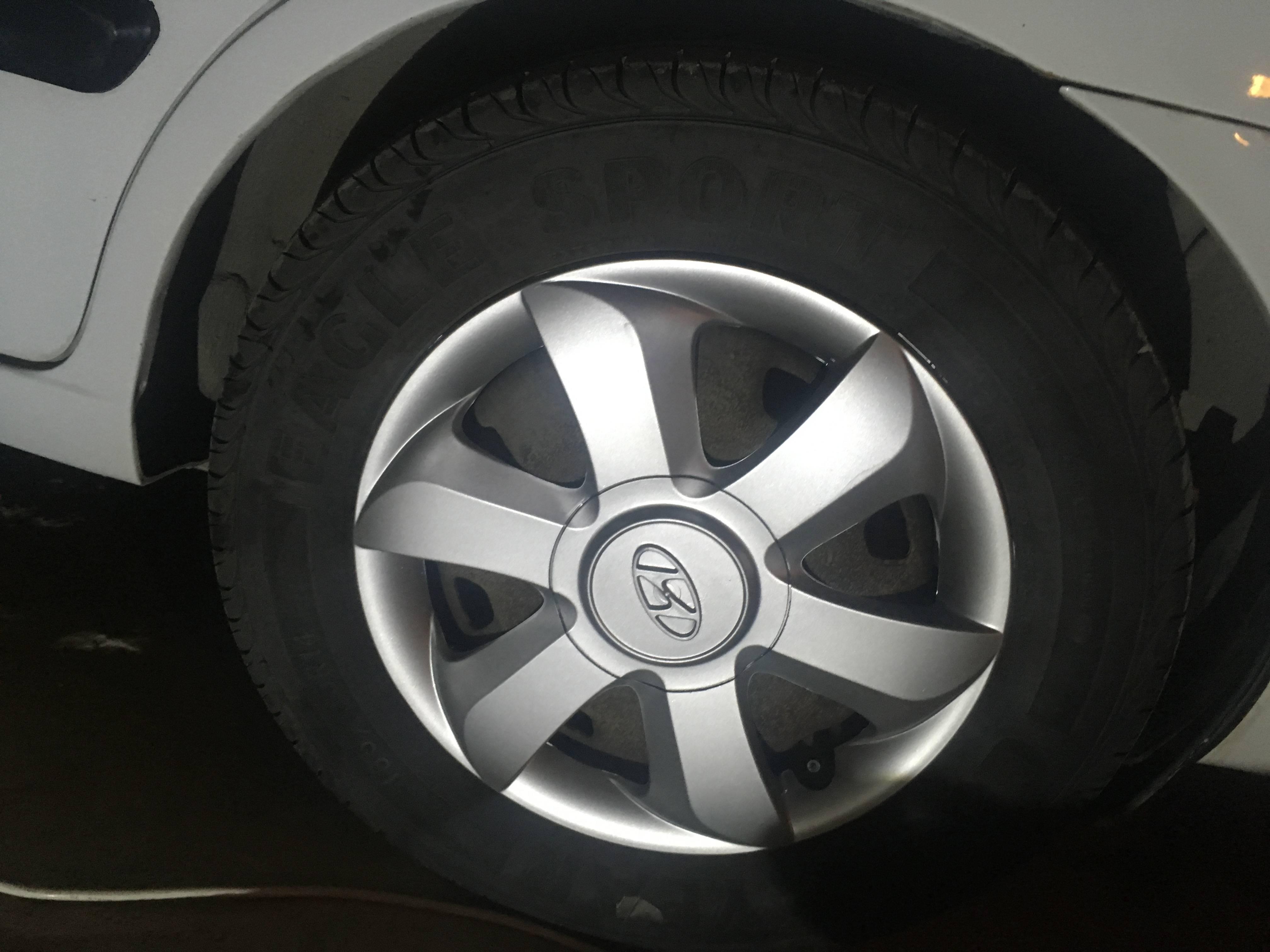 Hyundai accent admire Paslı Jantları boyamak