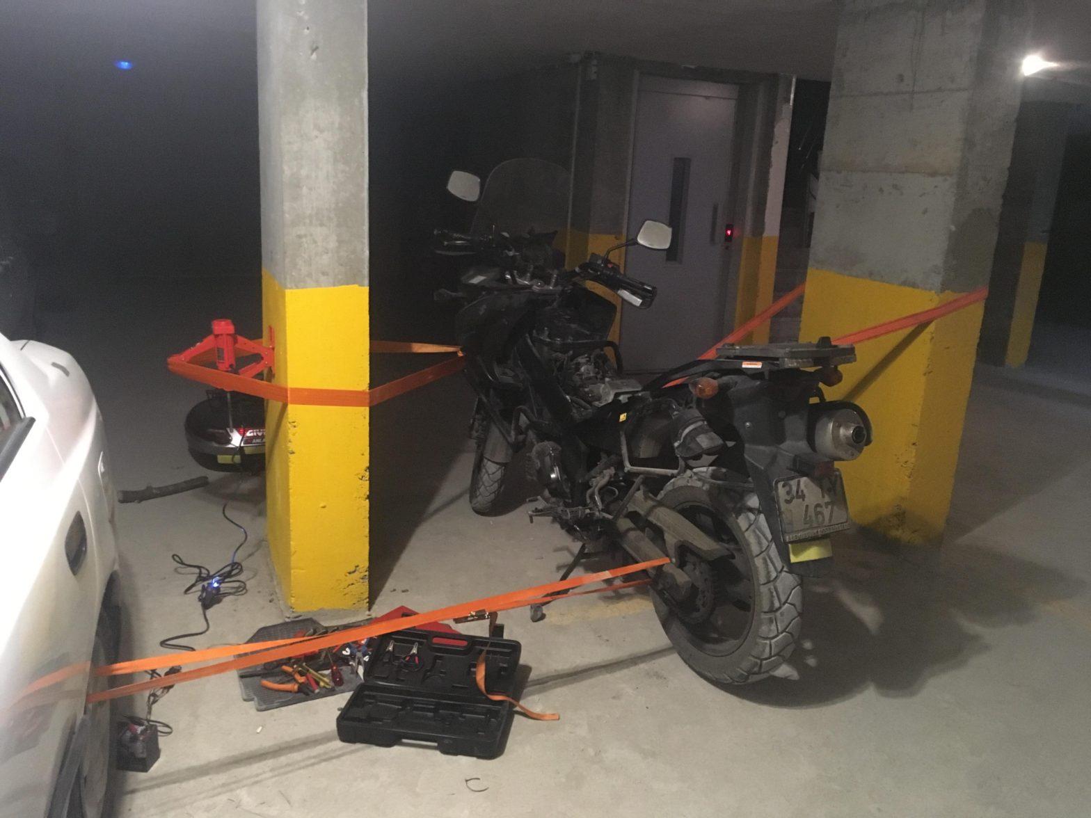 Yamulan Motosiklet Koruma Demiri Nasıl düzeltilir Suzuk v-strom DL650-1000
