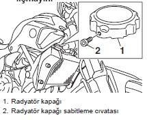 Yamaha mt07 Radyatör kapağı ve sabitleme civatası
